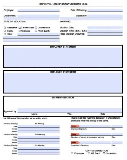 Employee Disciplinary Action Template Beneficialholdings Info Employee Write Up Template Pdf