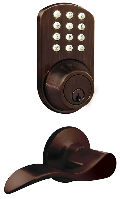 Door Knob With Deadbolt Built In by Milocks Tfl 02 Keyless Entry Deadbolt And Lever Handle