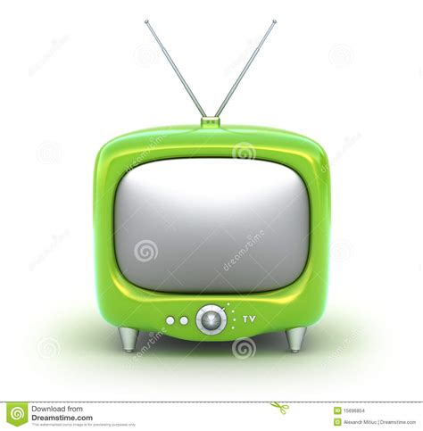 green tv green retro tv set isolated on white background stock images image 15696854