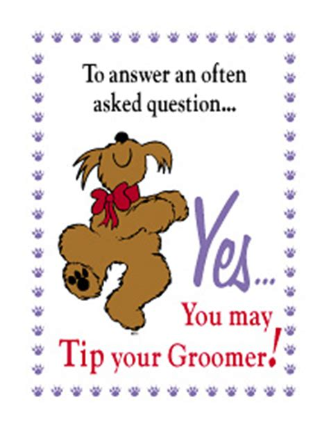do you tip a groomer photos