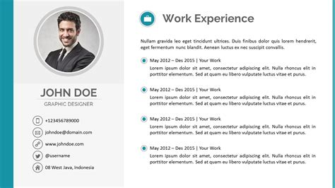 Powerpoint Resume Templates by Resume Powerpoint Template By Pptx Graphicriver