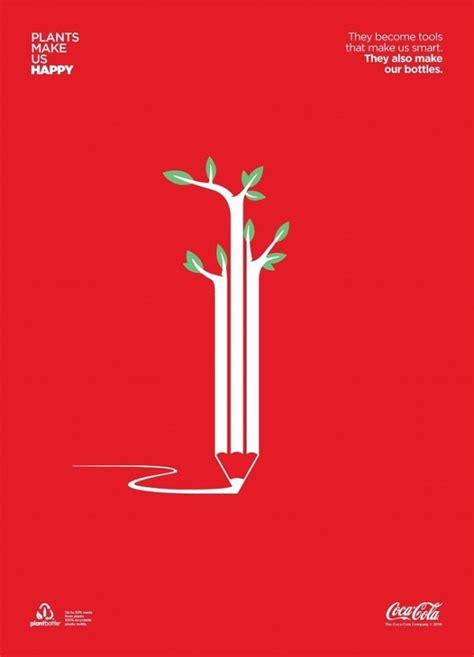 layout design of coca cola company デザインもエコの時代 余白を生かしたコカコーラの広告