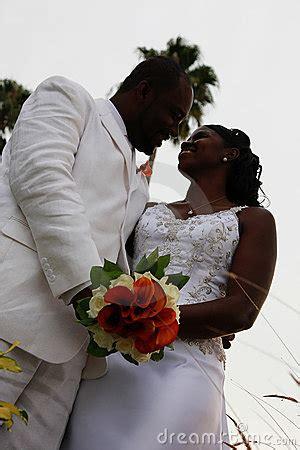 african american wedding couple stock photo image