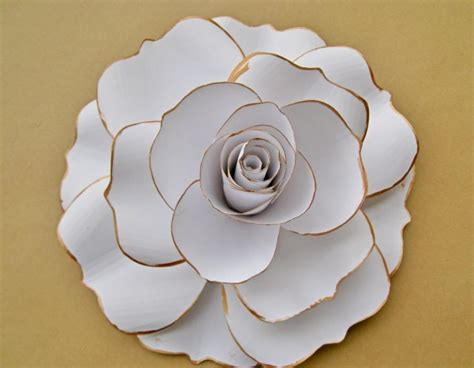 How To Make White Paper Flowers - white paper white flower blooms large