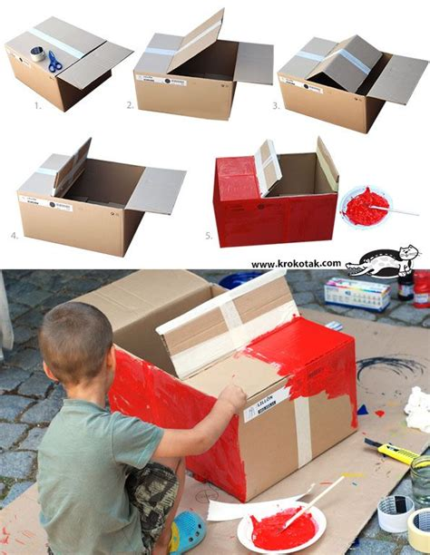 17 best ideas about cardboard box crafts on