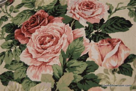 How To Sew Vinyl Upholstery 4 5 Yard Piece Classic English Glazed Cotton Chintz Fabric