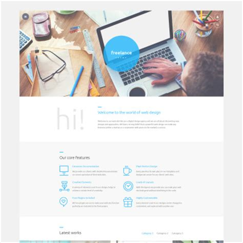Homepage Design Vorlagen Web Design Templates