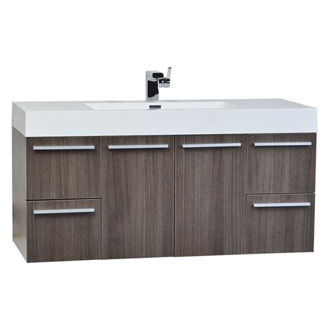 Bathroom Vanities Tn by 47 Inch Wall Mount Bathroom Vanity Grey Oak