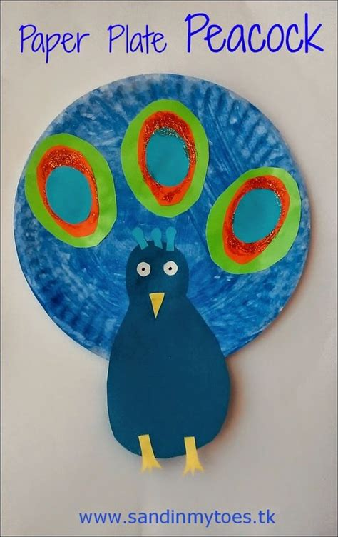 Peacock Paper Plate Craft - busy paper plate peacock for republic day