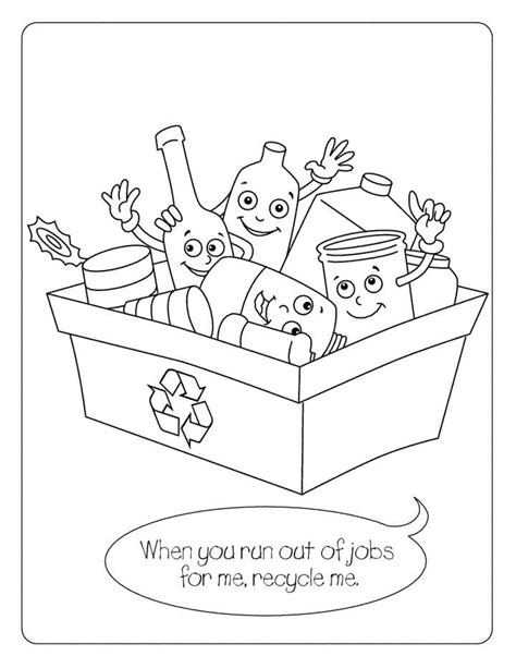 coloring pages for recycle reduce reuse recycling coloring page for kids free printable