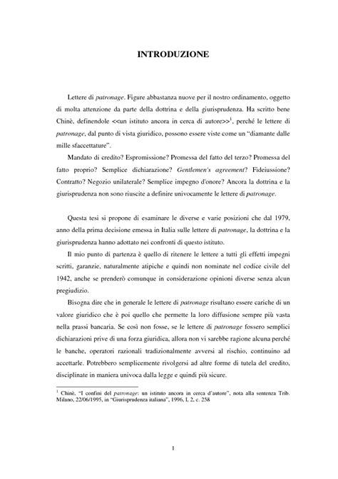 lettere di patronage le lettere di patronage nella pratica bancaria tesi di