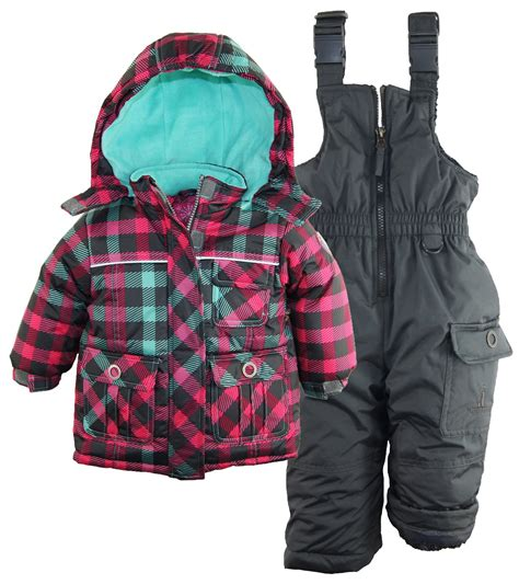 Rugged Snowsuit by Rugged Baby Classic Check Snowboard Jacket 2pc