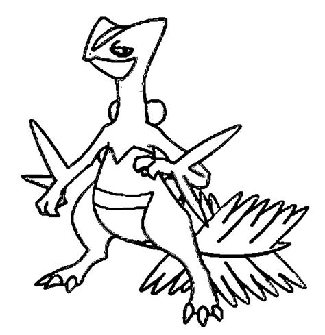 pokemon coloring pages grovyle coloring pages pokemon sceptile drawings pokemon