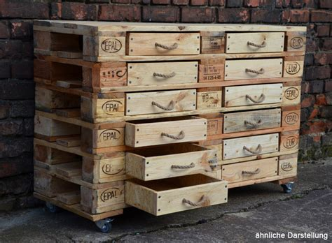 schublade europalette biofactur gro 223 es sideboard mit 12 schubladen avocadostore