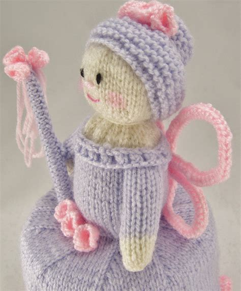 pattern holder knitting flower fairy toilet roll holder knitting pattern