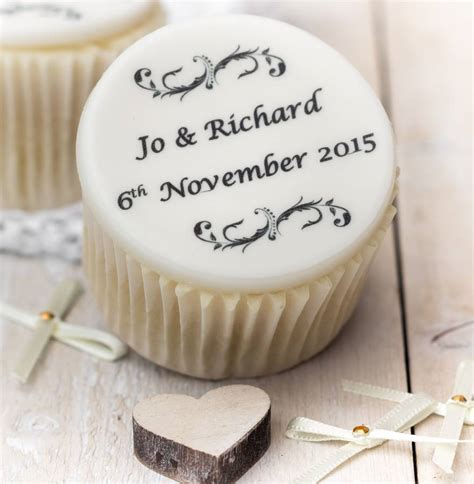 personalised wedding cupcake toppers by just bake