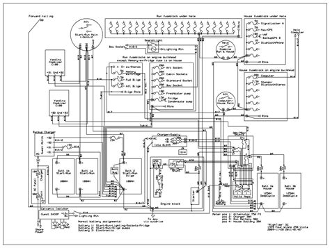 sailboat wiring diagram software to document boat wiring the hull
