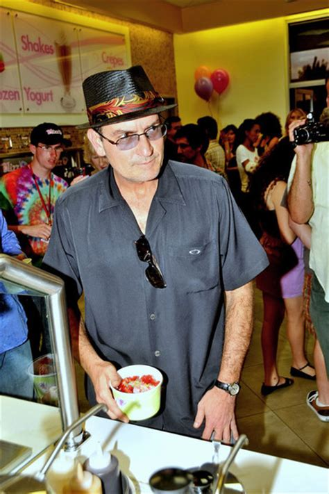 Sheen Is Rethinking His 911 by File Sheen At A Yogurt Store Opening With His