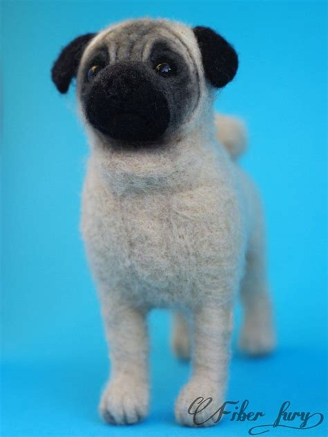 needle felted pug 78 best images about валяние мопсов on sculpture