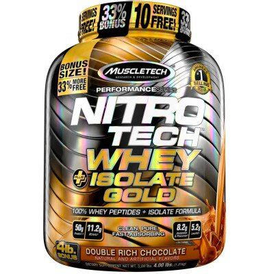 Nitro Tech Whey Isolate nitro tech whey plus isolate gold by muscletech lowest