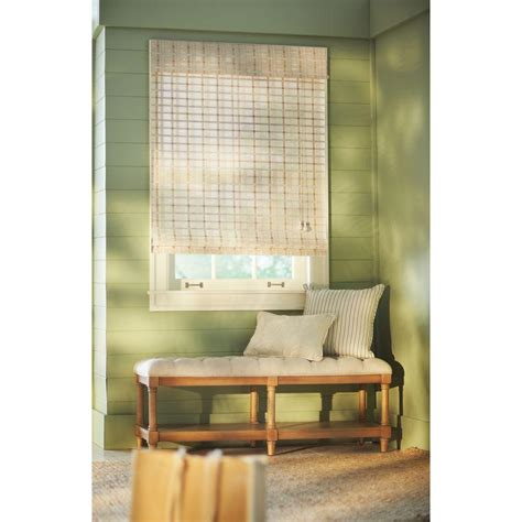 home l shades home decorators collection white washed reed weave bamboo