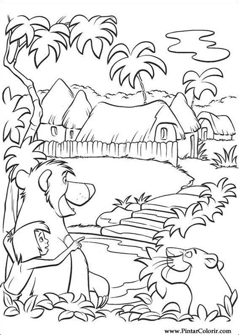 Drawings To Paint & Colour The Jungle Book - Print Design 045