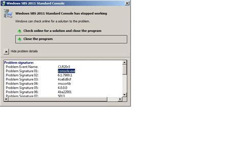 windows sbs console windows sbs console server 2011 repair how to obtain disk 2