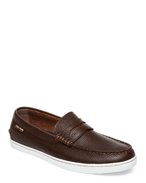 cole haan brown loafers cole haan nantucket loafers in brown for