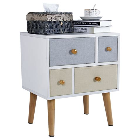 nachttisch retro end table cabinet home furniture design