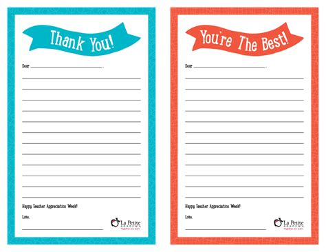 appreciation cards template appreciation week free printable thank you