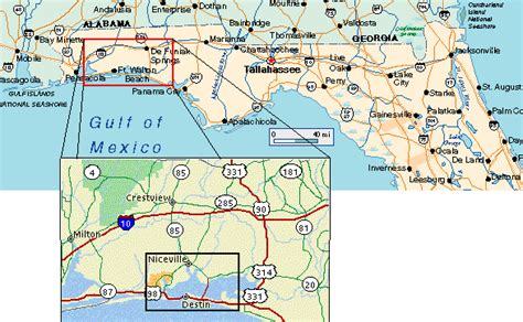 Northwest Florida Beaches Map