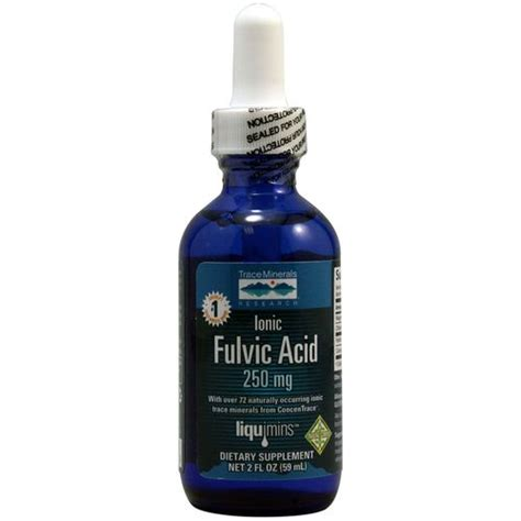 Detox Doctor Fulvic Acid by Trace Minerals Research Ionic Fulvic Acid 2 Fl Oz