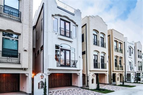 Luxury Townhouse Floor Plans Luxury New Townhomes In Houston Tx At The Granada Titan