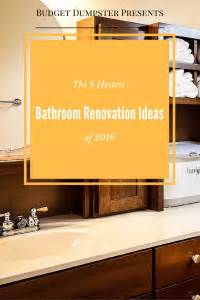 check out these bathroom design trends for 2016 bathroom remodel trends 2016 tsc the 6 bathroom renovation ideas of 2016