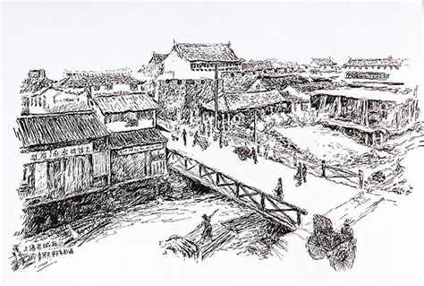 sketches in the foreign settlements and city shanghai classic reprint books pen and ink drawings reveal history of shanghai