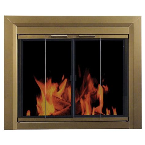 pleasant hearth carrington medium glass fireplace doors ct