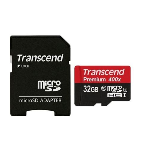 Memory Card Transcend 32gb Class 10 transcend 32gb class 10 micro sd memory card with adapter memory cards at low prices