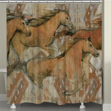 horse shower curtain sets running horse shower curtain hooks soozone