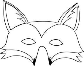 coloriage masque renard 224 imprimer sur coloriages info