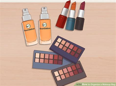 9 Steps To Organize Your Bag by 3 Ways To Organize A Makeup Bag Wikihow