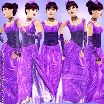 Gamis Polka Saten satin evening dress purple with polka dots by bludickamarky the exchange community the