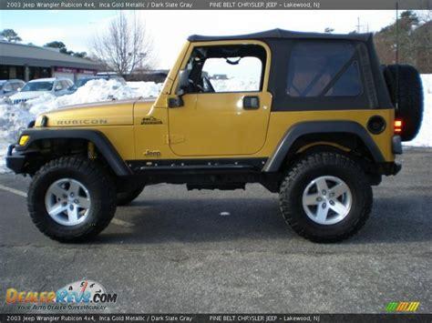 Inca Gold Jeep Wrangler 2003 Jeep Wrangler Rubicon 4x4 Inca Gold Metallic