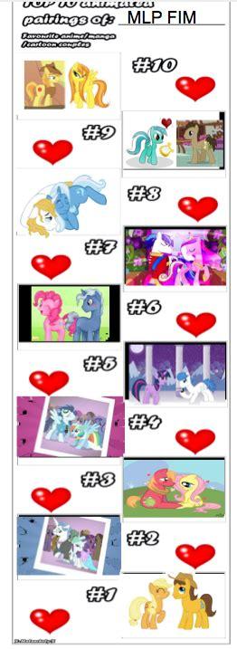 Best Mlp Memes - my little pony top 10 shipping meme by tobyandmavisforever