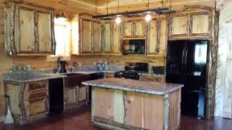 Log Kitchen Cabinets Aspen Log Cabinets And Furniture Traditional Kitchen Nashville By Southern Rustics Llc