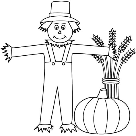 Pumpkin Color Sheet by Scarecrow Coloring Pages Bestofcoloring
