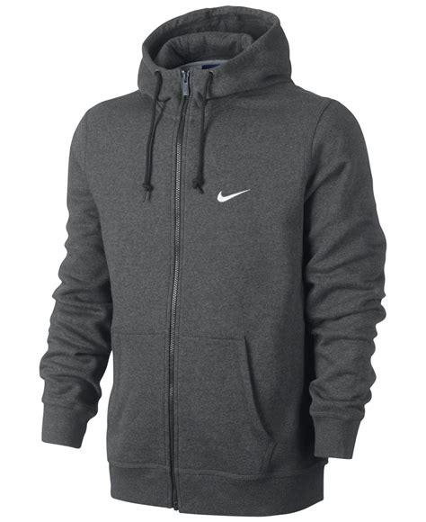 Vest Hoodie Rompi Hoodie Zipper Nike Logo 1 King Clothing lyst nike s classic fleece zip hoodie in gray for