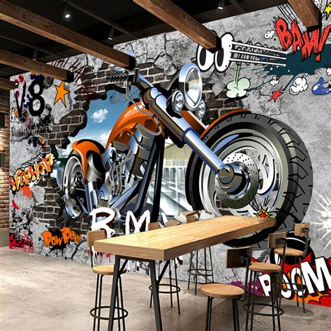 motorcycle wall murals aliexpress buy high quality custom wall murals