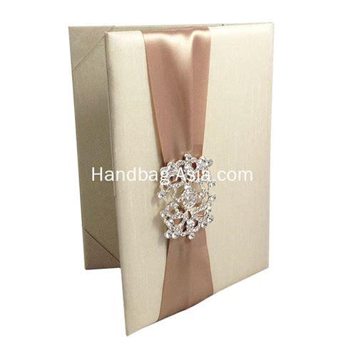 silk wedding invitations thailand luxury dupioni silk wedding invitation folio handbag asia luxury invitations made
