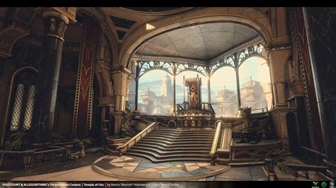 throne room temple of utu engine 4 env for polycount s throne room contest 3d mapcore