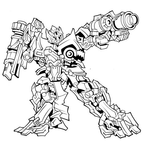 Free Coloring Pages Of Ironhide Transformers 2 Transformer Printable Coloring Pages